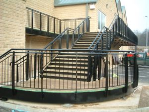 steel and decking stairs