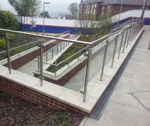 glass exterior ramp